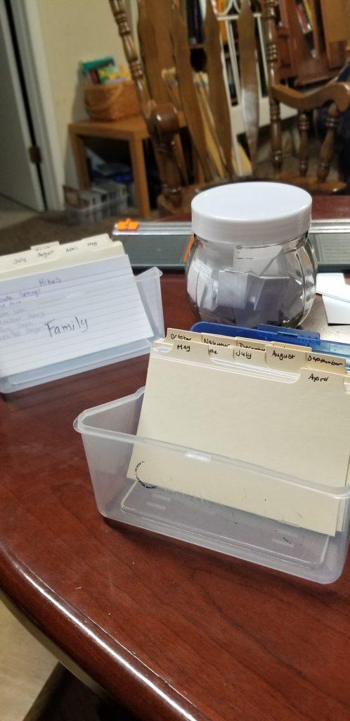 Family Ideas, Babys date night box, BORED Jar